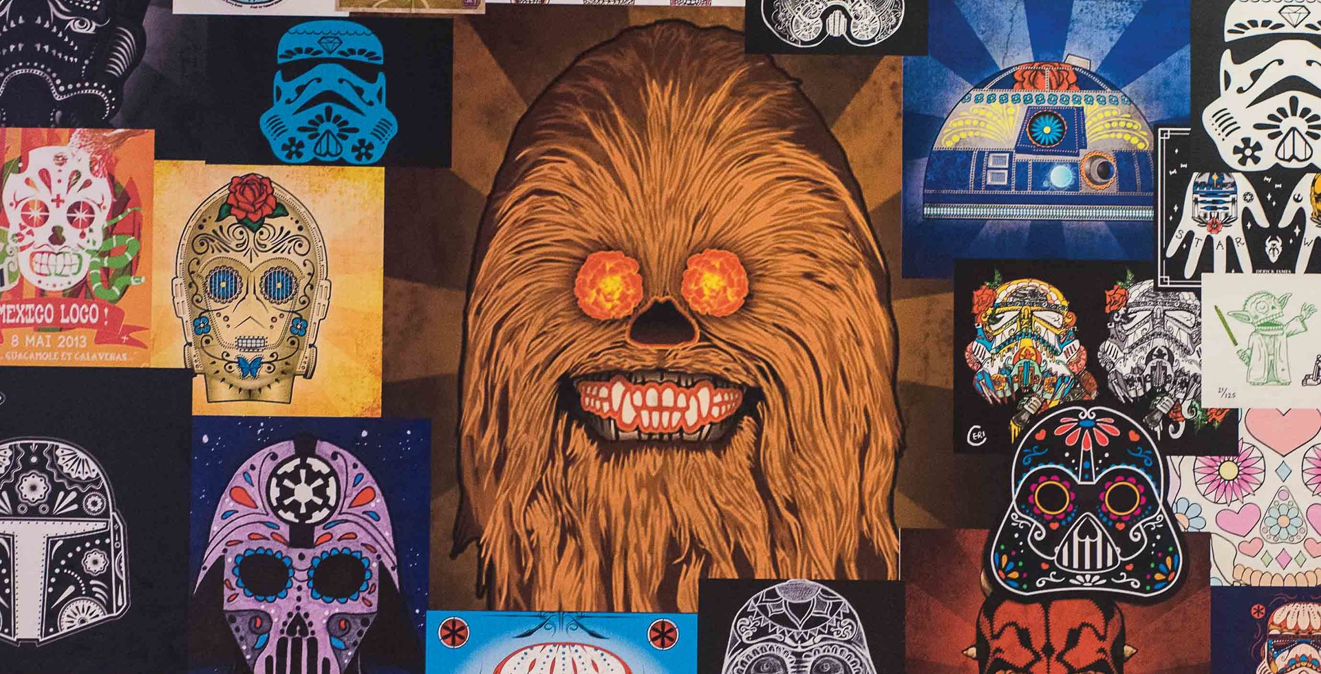 Mexican cantina meets Star Wars. The wall art at Mags 99 has come a long way since the original, solo fish poster, but the chicken has always been delicious.