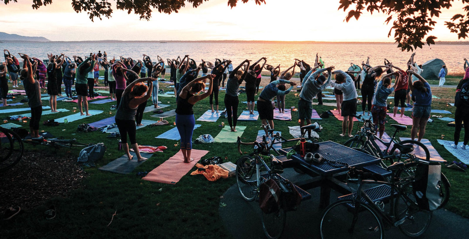 Fresh air, beautiful sunsets and…free yoga? Bellingham's Boulevard Park doesn't disappoint. Photo: Skye Schillhammer